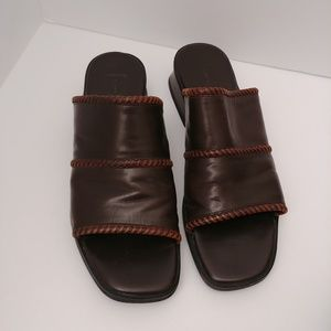 Cole Haan Country Leather Slip-On Sandals